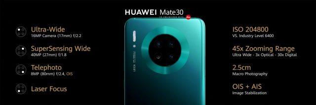 камера Huawei Mate 30 характеристики