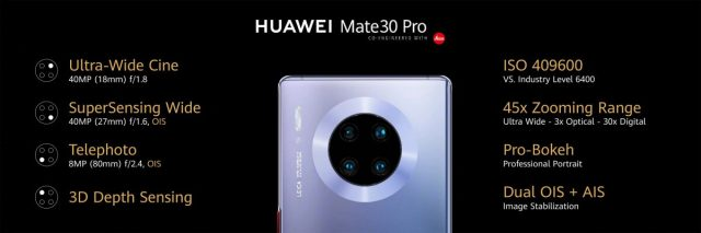 Huawei Mate 30 Pro характеристики камеры