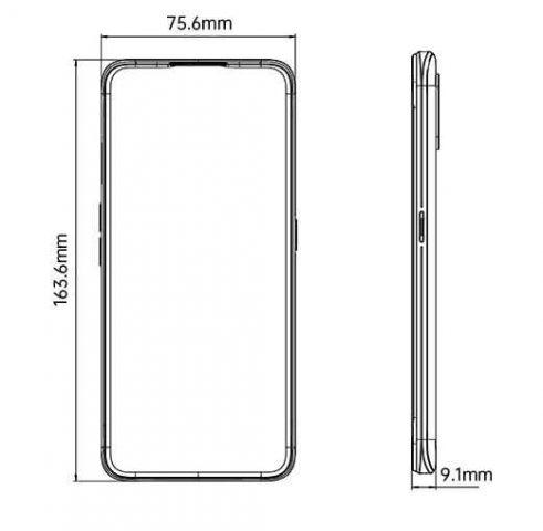 Oppo A9 2020 размеры