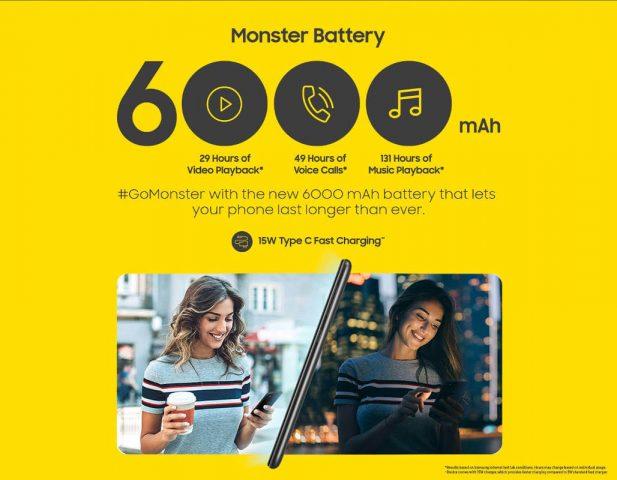 Samsung Galaxy M30s характеристики батареи