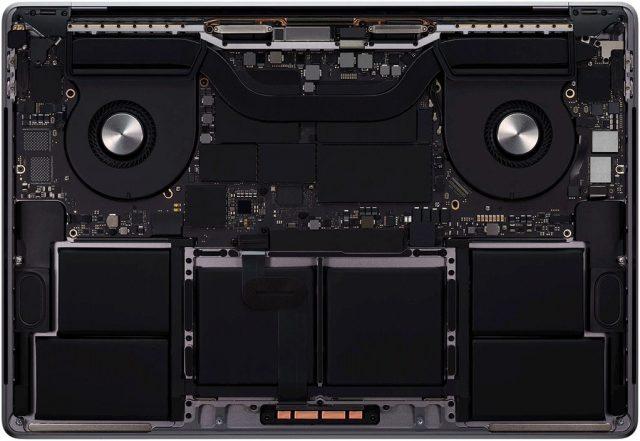 MacBook Pro 16 процессор и система охлаждения