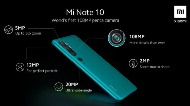 камера Mi Note 10