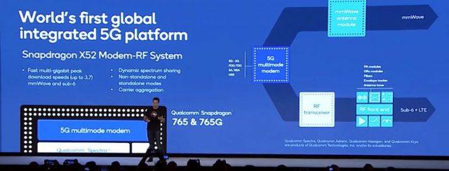 Snapdragon 765 — первый процессор для смартфонов среднего ценового диапазона с интегрированным модемом 5G