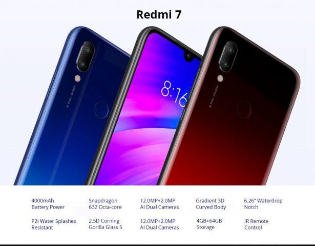 Характеристики Redmi 7