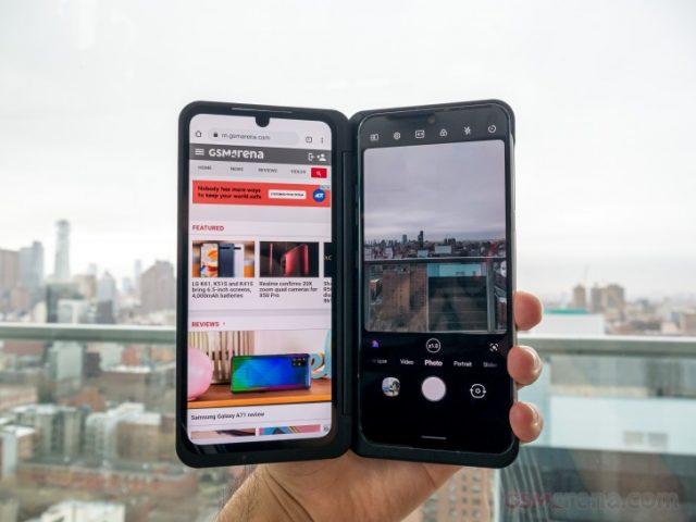 обзор LG V60 ThinQ 5G двойной экран