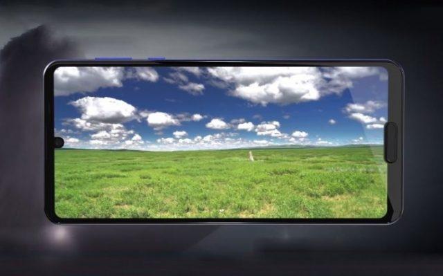 Sharp Aquos R5G экран IZGO с двумя вырезами