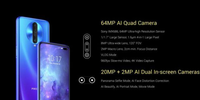 Pocophone X2 характеристики камеры