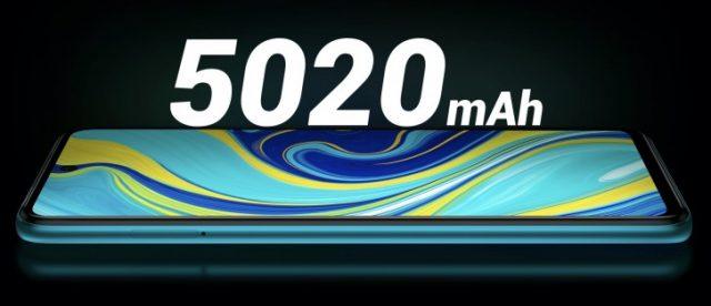 характеристики Redmi Note 9 Pro Max батарея и быстрая зарядка
