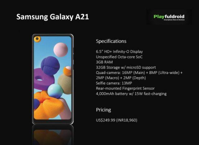 Samsung Galaxy A21 характеристики
