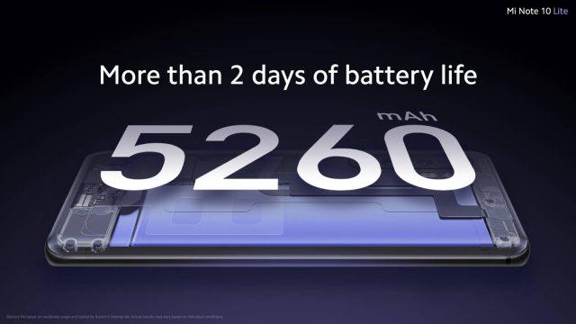 Mi Note 10 Lite батарея